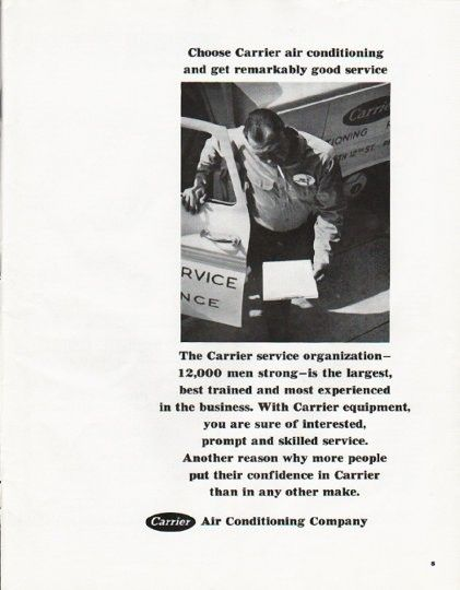 1965 carrier air conditioner ad choose carrier amazing. Black Bedroom Furniture Sets. Home Design Ideas