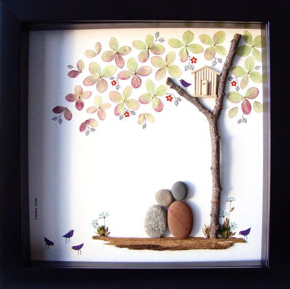 Pebble Art Couple's Gift Unique Couple's Gift by MedhaRode on Etsy