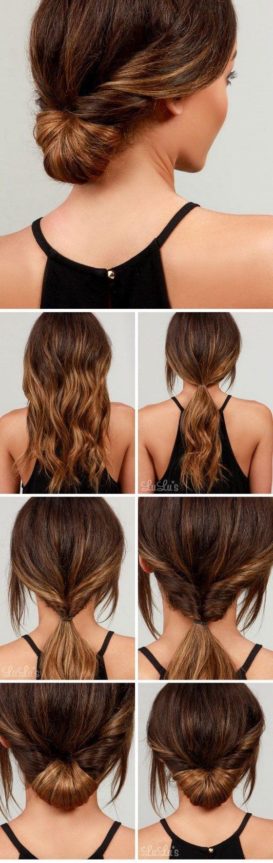 cabello recogido sencillo