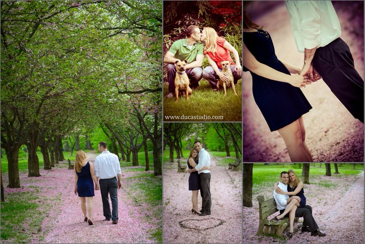EVERHART PARK CHERRY BLOSSOM ENGAGEMENT PHOTOGRAPHY