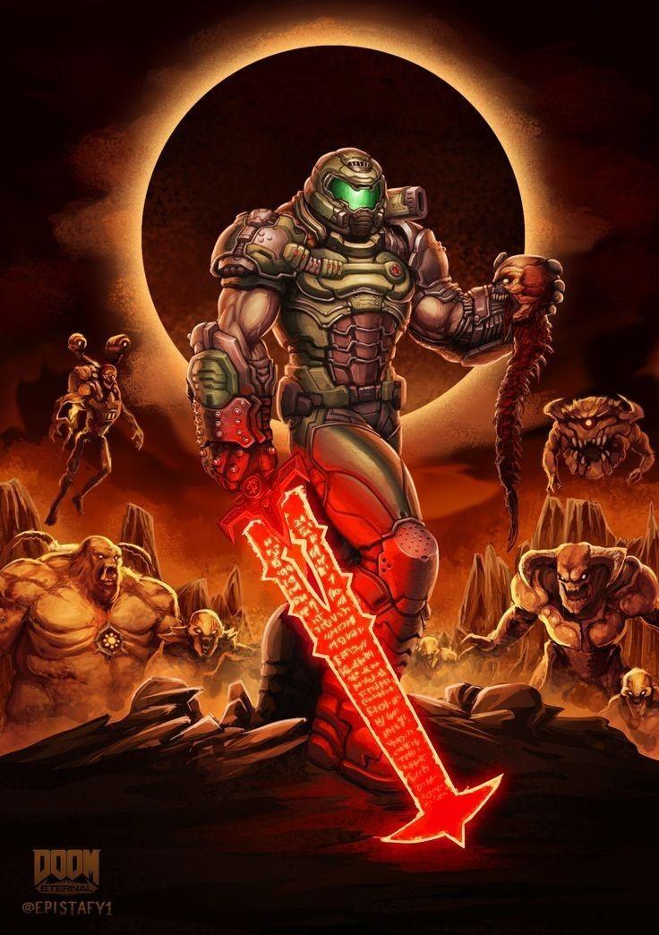 Pin By Andrew Leung On Doom In 2020 Doom Videogame Doom Slayer