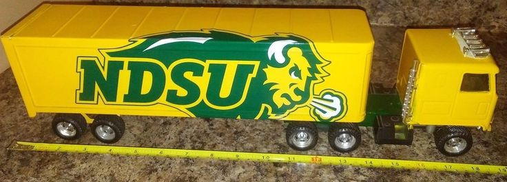 NCAA NDSU Bison Football ERTL Semi Truck Tractor Trailer steel Special Orders!  #ERTL #NorthDakotaStateBison