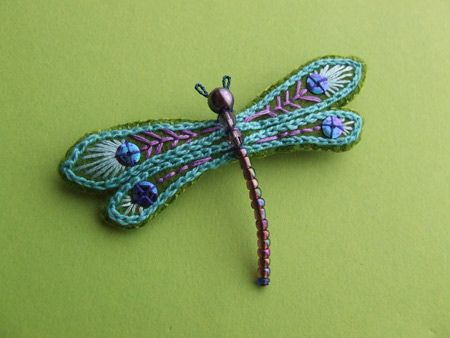 dragonfly brooch, via Flickr.