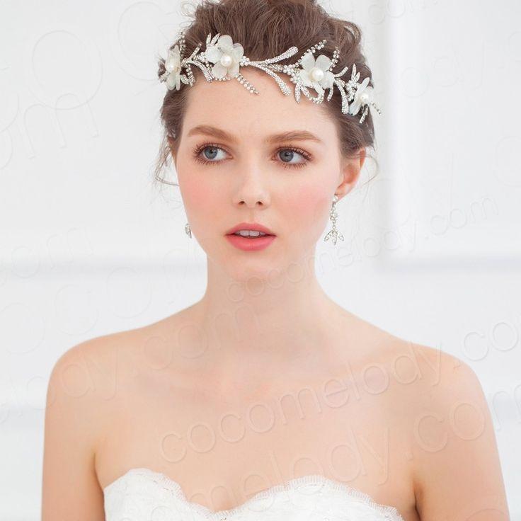 Unique Wedding Headpieces: Unique Ivory Imitation Pearl Wedding Barrette Wedding