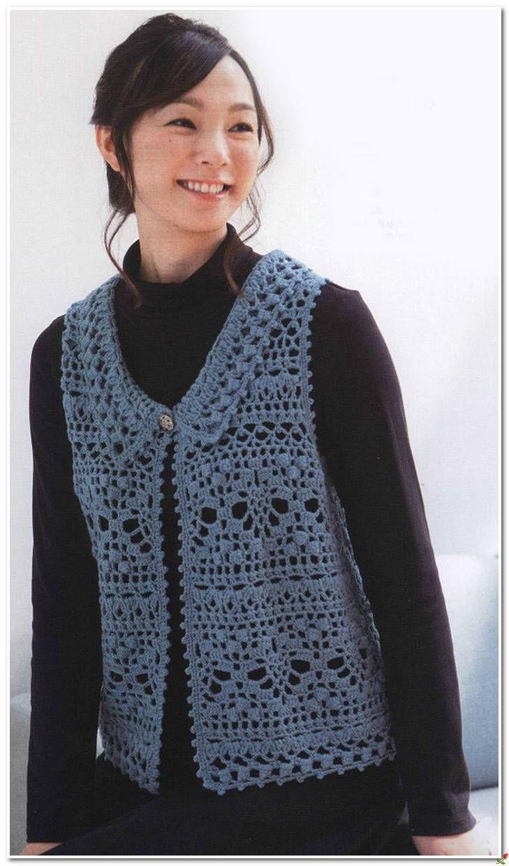 671 mejores im genes sobre chalecos crochet en pinterest for Disenos de chalecos