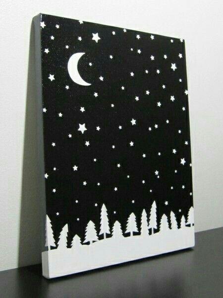 Best Ana Images On Pinterest Canvas Art Canvas Paintings - Black canvas painting ideas