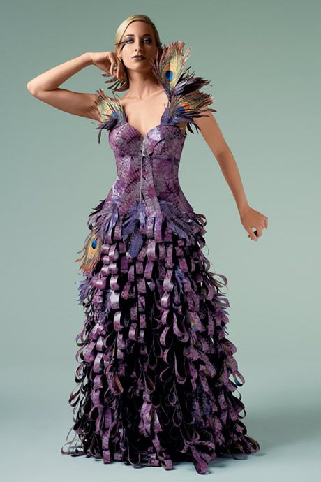 Paper Dress by Lia Griffith. Photo courtesy of papier-couture.com