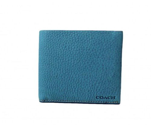 best - COACH Bleeker Pebbled Leather Double Billfold in Ocean {Light Blue} 74595 Coach http://www.amazon.com/dp/B00FPOTHYQ/ref=cm_sw_r_pi_dp_DCwOtb1X58ZMA3TE