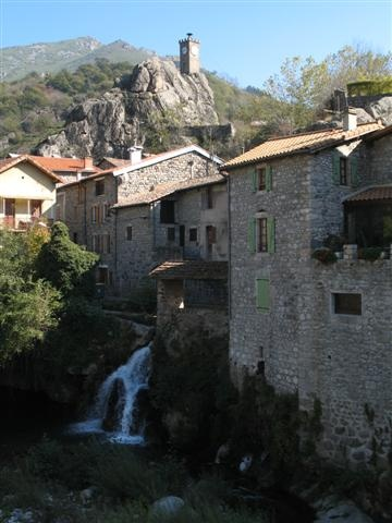 Village of Burzet Ardeche France