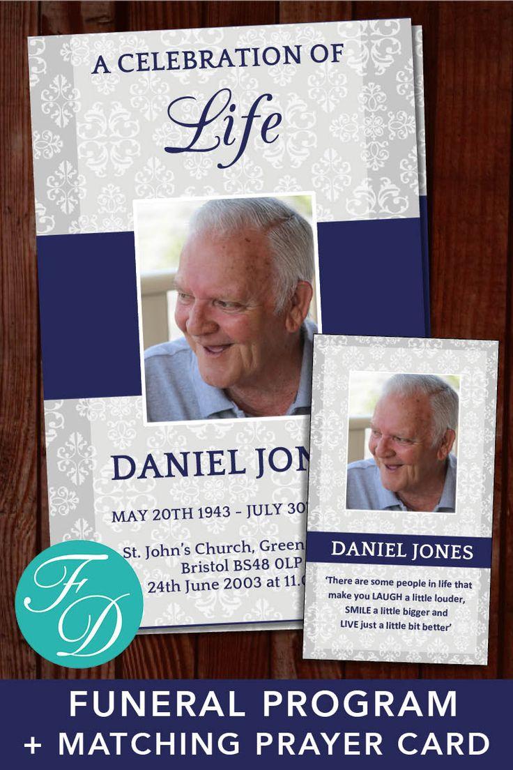 505 Best Funeral Programs For Men Obituary Templates Prayer