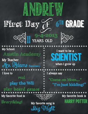 FREEBIE! FREEBIE! First Day of School (all other grades) Editable & Printable
