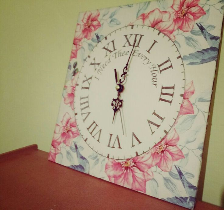 clock/ decoupage/ transfer/ diy