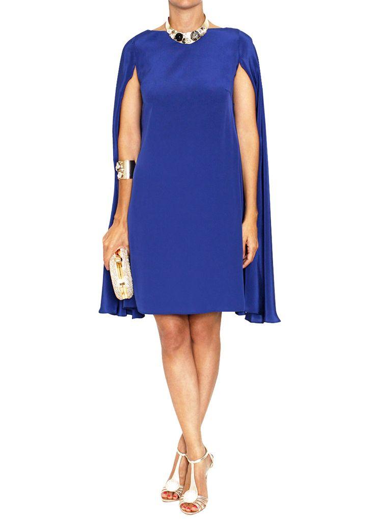 vestido capa azul klein