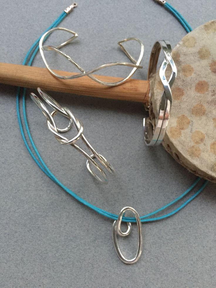Silver Bracelets and Pendant