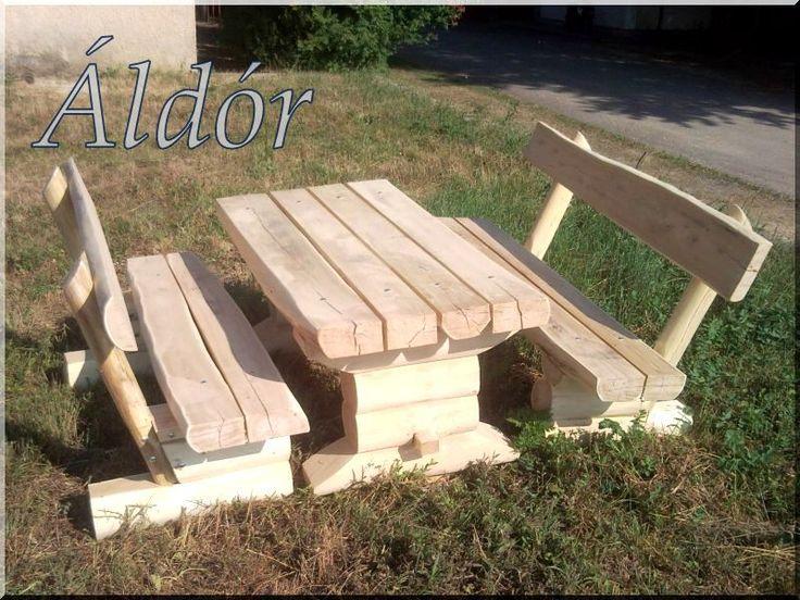 Rönk kerti bútor