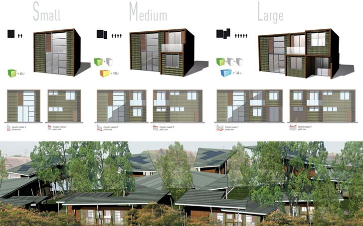 A   Architects Design Sustainable Modular Lightweight Houses f...
