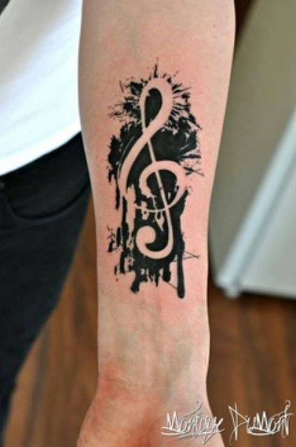 Music Symbol Mega Tattoo