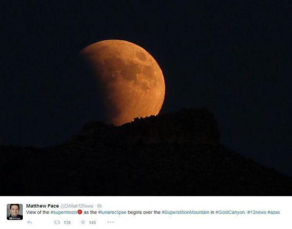 ECLIPSA DE LUNĂ, SUPERLUNA 28 septembrie 2015. Imagini spectaculoase de la fenomenul astronomic rar