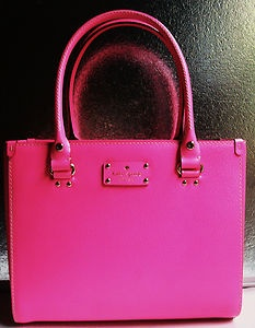 gorgeous hot pink Kate Spade handbag have this in purple LOVE