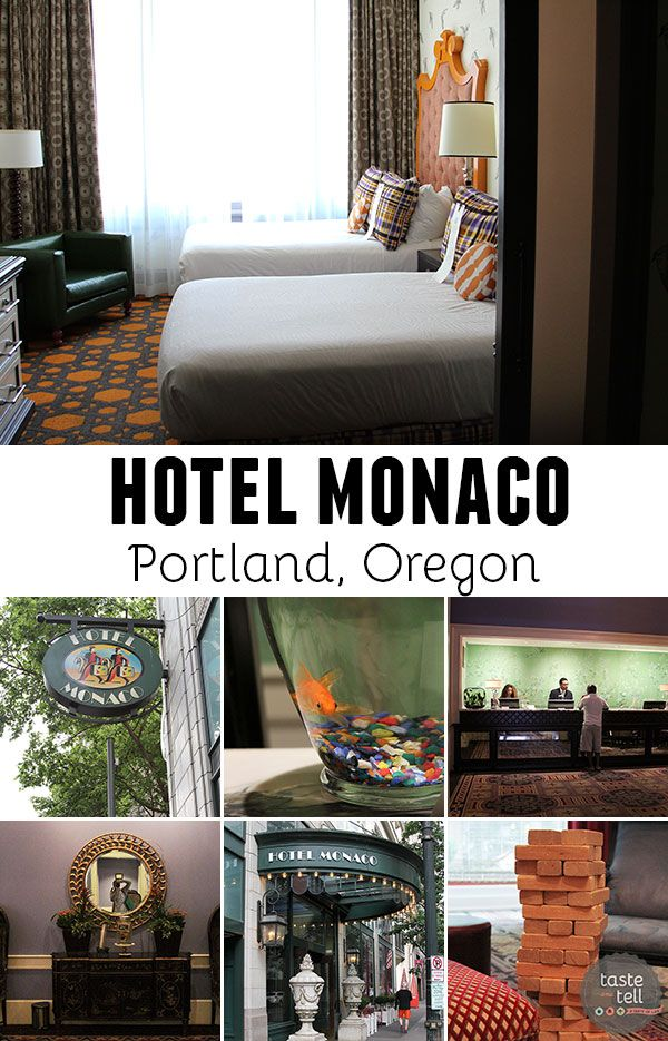 A look inside the Hotel Monaco in Portland, Oregon - a luxury boutique hotel in downtown Portland.