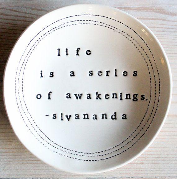 life is a series of awakenings. sivananda.