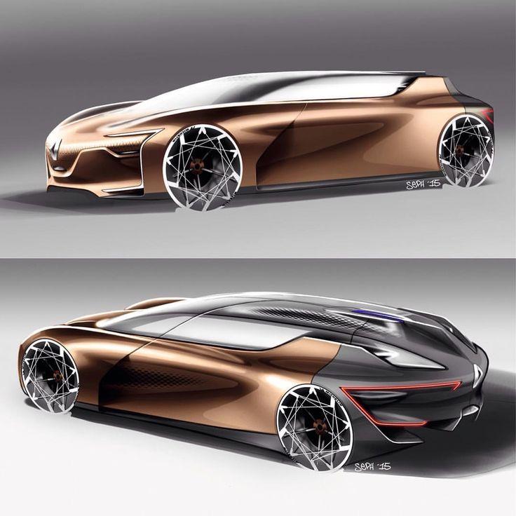 "2,566 Me gusta, 6 comentarios - Car Design World (@cardesignworld) en Instagram: ""Renault Symbioz Concept official sketches #cardesign #car #design #carsketch #sketch #renault…"""
