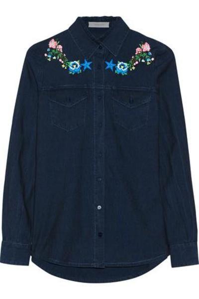 Nevada embroidered chambray shirt #shirt #covetme #Preen Line