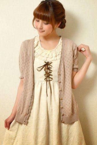 Mori Girl | Cute cardigan & dress