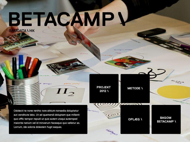 Forslag til app for et camp-forløb, vi udviklede for fagforeningen SAMDATA/HK, hvor IT-studerende dystede om at løse en opgave for Wonderful Copenhagen i Odense, Berlin og København. Appen var tænkt til at dokumentere forløbet med film, fotos, opgaveformuling, projektpræsentationer.