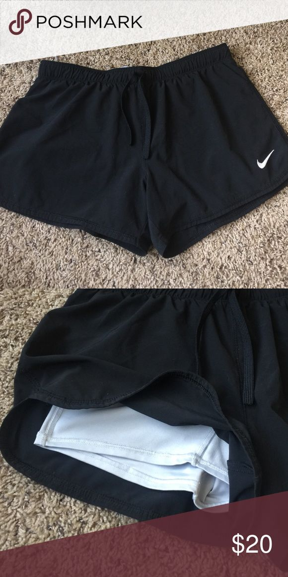 Nike Phantom Women's Training Shorts Black Nike shorts with white spandex built in Nike Shorts