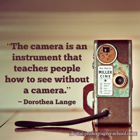 The camera is an instrument that teaches people how to see without a camera