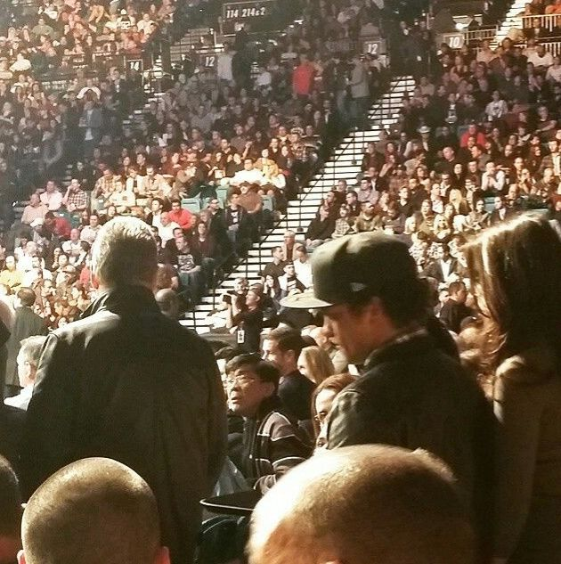 UFC 1/3/14 Bruno looking for their seats