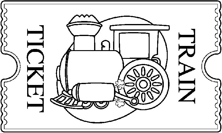 train ticket coloring pages - photo#1