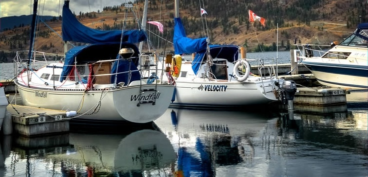 Get out on the water | Yachts moored at the Vernon Yacht Club | Vernon, BC
