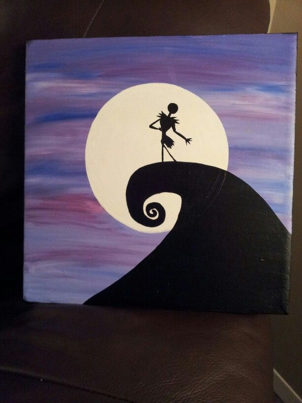 Nightmare Before Christmas Canvas Canvas Pinterest