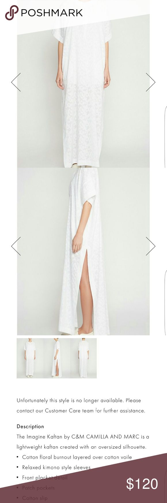Camilla and Marc Imagine Kaftan New never worn has tags attached, it's too long for me. Has slip so it can me worn as a dress or cover up. camilla & marc Dresses Maxi