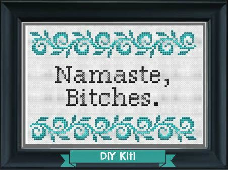 Get your zen on with this pattern! | 17 Cross Stitch Patterns For Your SassyHome