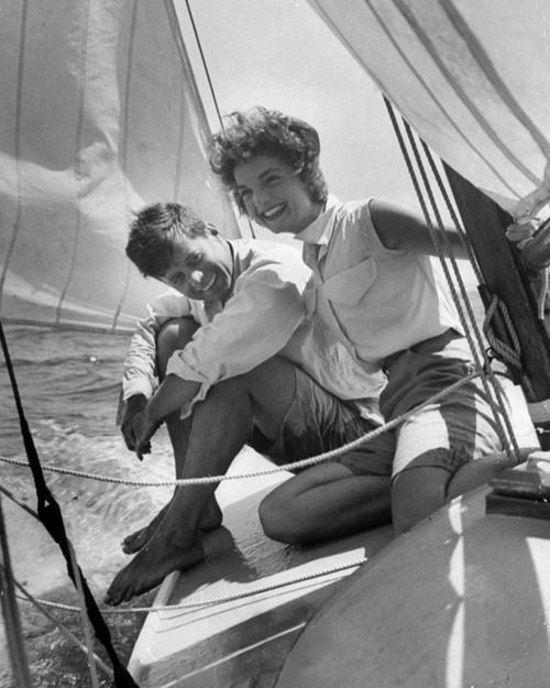 : Jackie Kennedy, John Kennedy, Style, The Kennedys, Sailing, Jfk, People, Photo