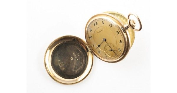Ceas de buzunar Savonette din aur 14k | Rythmos | Paul Ditisheim - Elveția cca.1925
