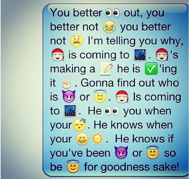 Cute text to send before Christmas using iPhone iemojis.
