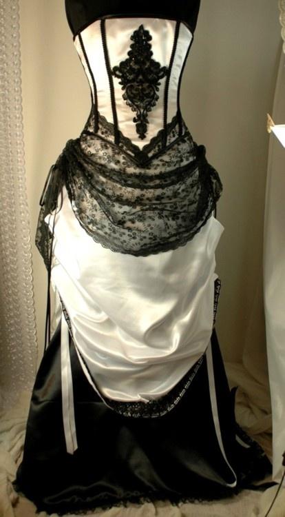 17 of 2017 39 s best vintage black dresses ideas on pinterest for Steel boned corset wedding dress