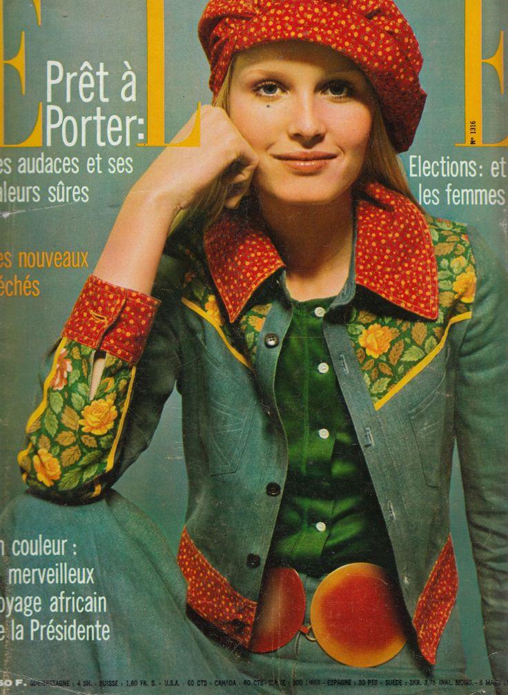 Kenzo clothing on the cover of Elle Magazine. Image via Pinterest.
