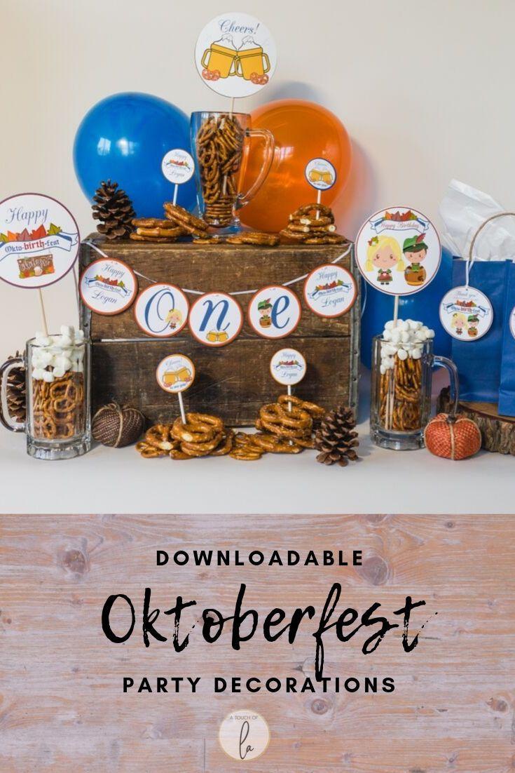 Downloadable Oktoberfest Kids Party Decorations