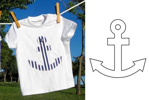 Plantilla de Ancla para aplicación en camiseta                                                                                                                                                                                 Más