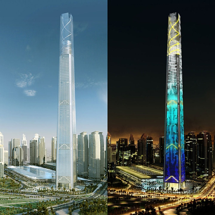 552 meters/1811 feet/105 floors; Doha Convention Center Tower (Doha, Qatar)