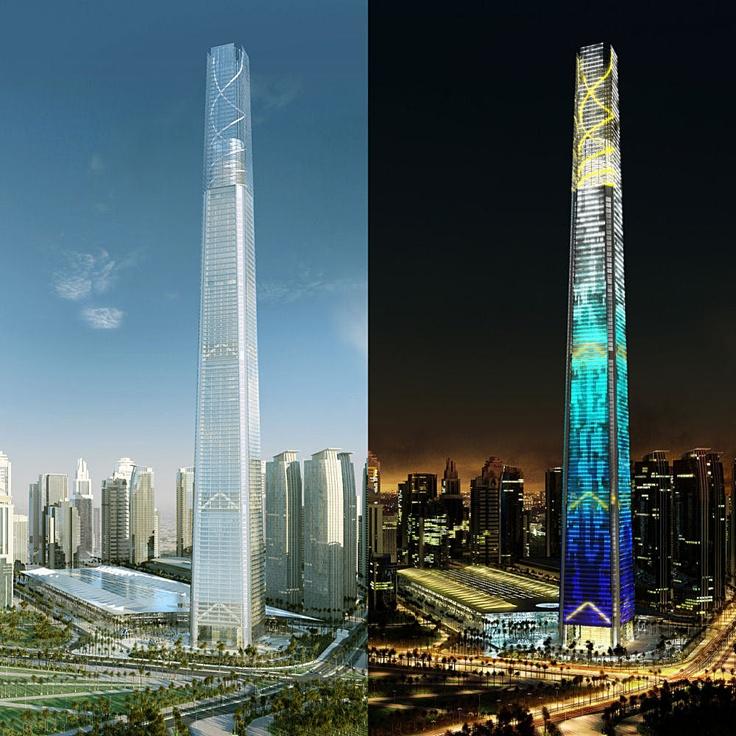 552 meters/1811 feet/105 floors; Doha Convention Center Tower (Doha, Qatar)