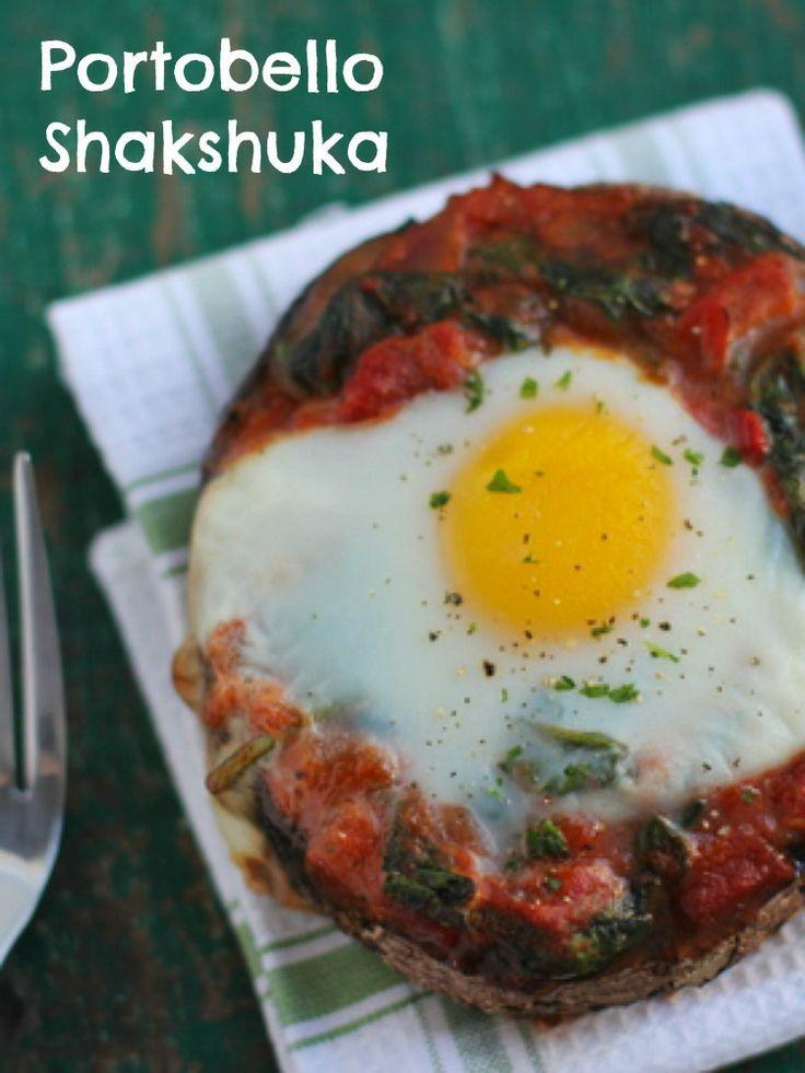 Baked Portobello ShakshukaPassover Pesach, Portobello Shakshuka, Healthy Breakfast, Baking Portobello, Passover Recipe, Jewish Food, Breakfast Recipe, Healthy Food, Jewish Recipe