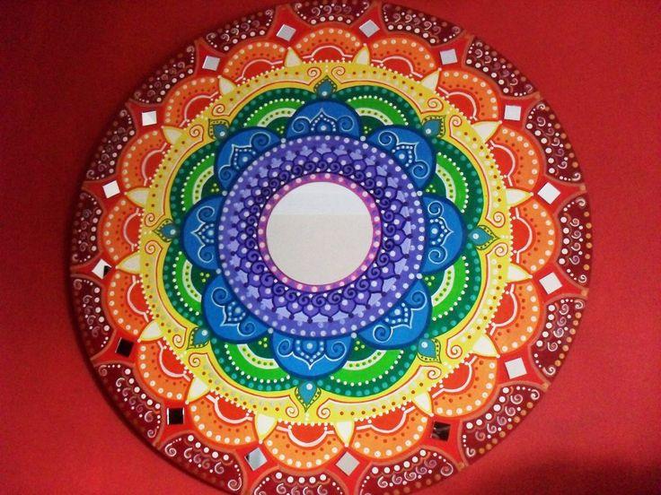 Cuadros Mandalas Decorativos Pintados A Mano En Placas - $ 950,00 en MercadoLibre