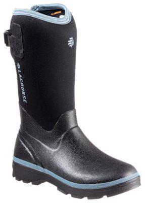 LaCrosse Alpha Range Waterproof Rubber Boots for Ladies - Black/Cerulean - 11M
