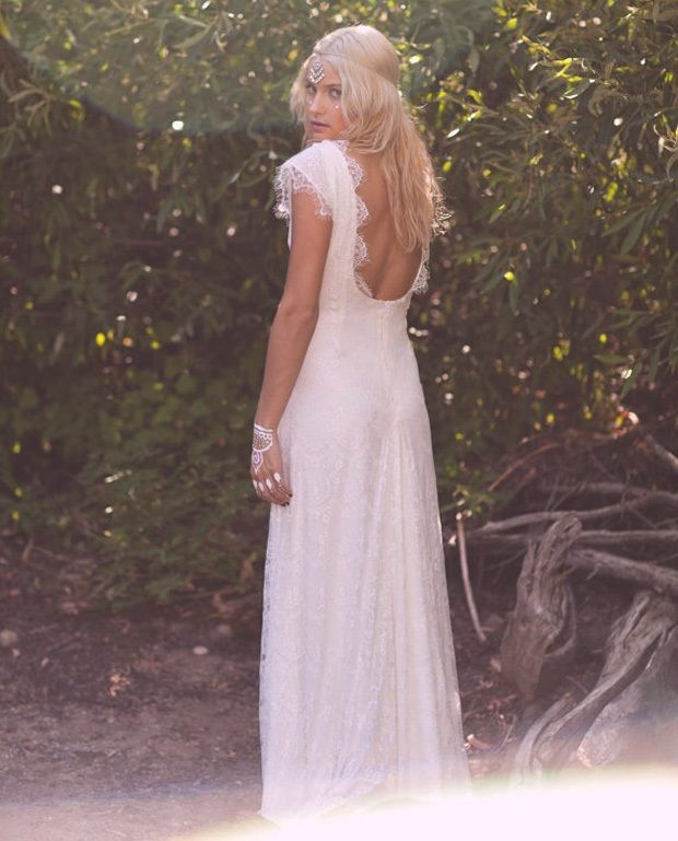 Ultimate Boho Wedding The Bohemian Bride Vintage Lace Gown